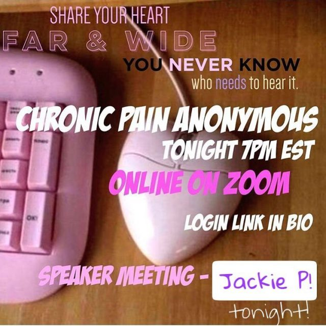 Hey gang! Join us for tonights online Chronic Pain Anonymoushellip