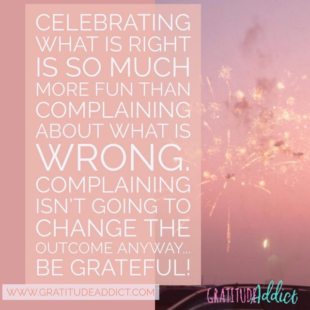Why bother complaining? Does it change your situation? Does ithellip
